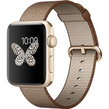 Apple Watch 2 42mm Gold Aluminum Case with Toasted Coffee/Caramel  Woven Nylon Band